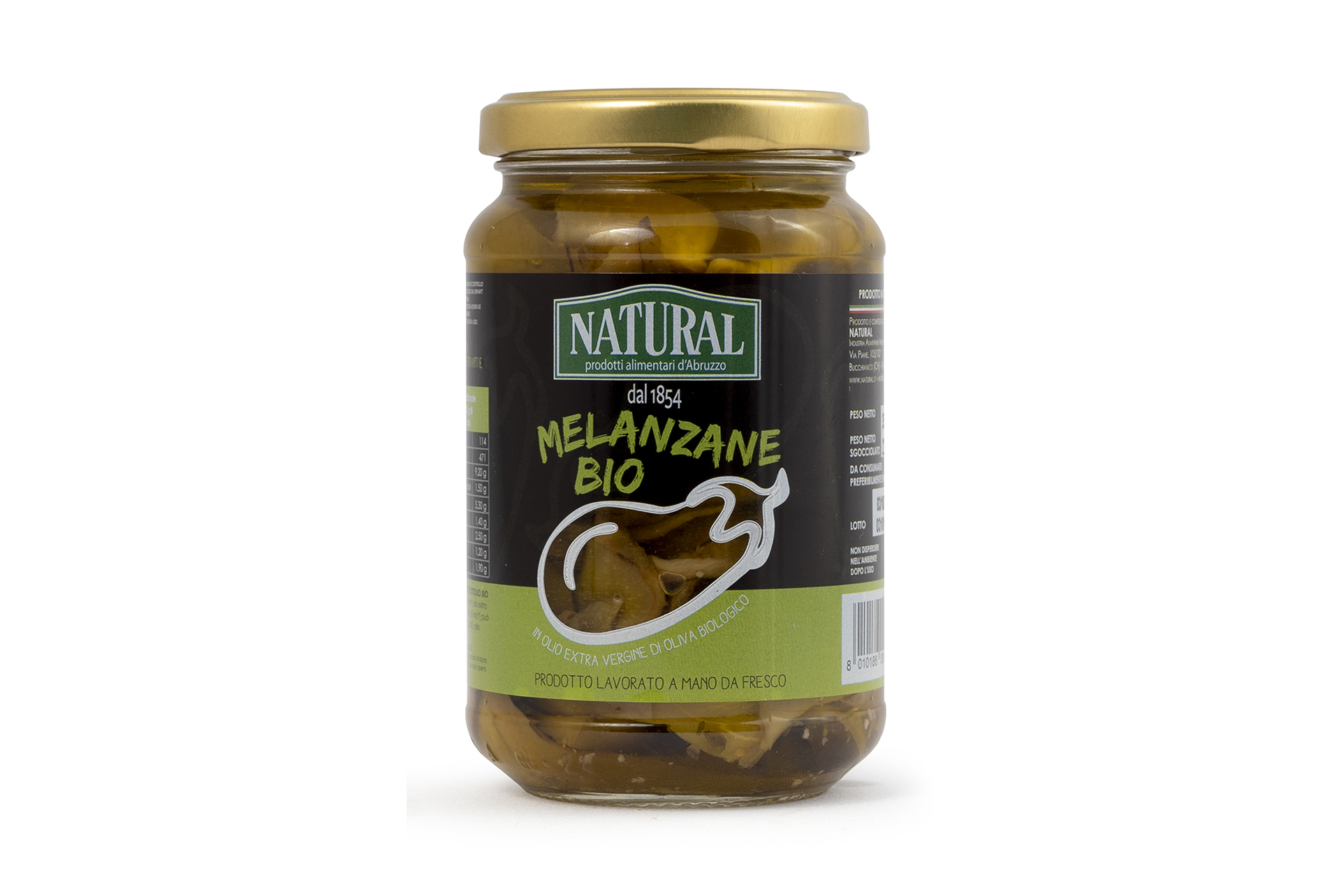Natural Melanzane Sottolio Biologiche