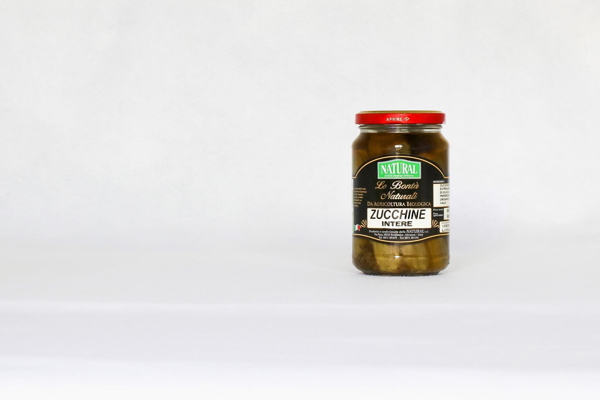 Whole Organic Zucchini In Oil