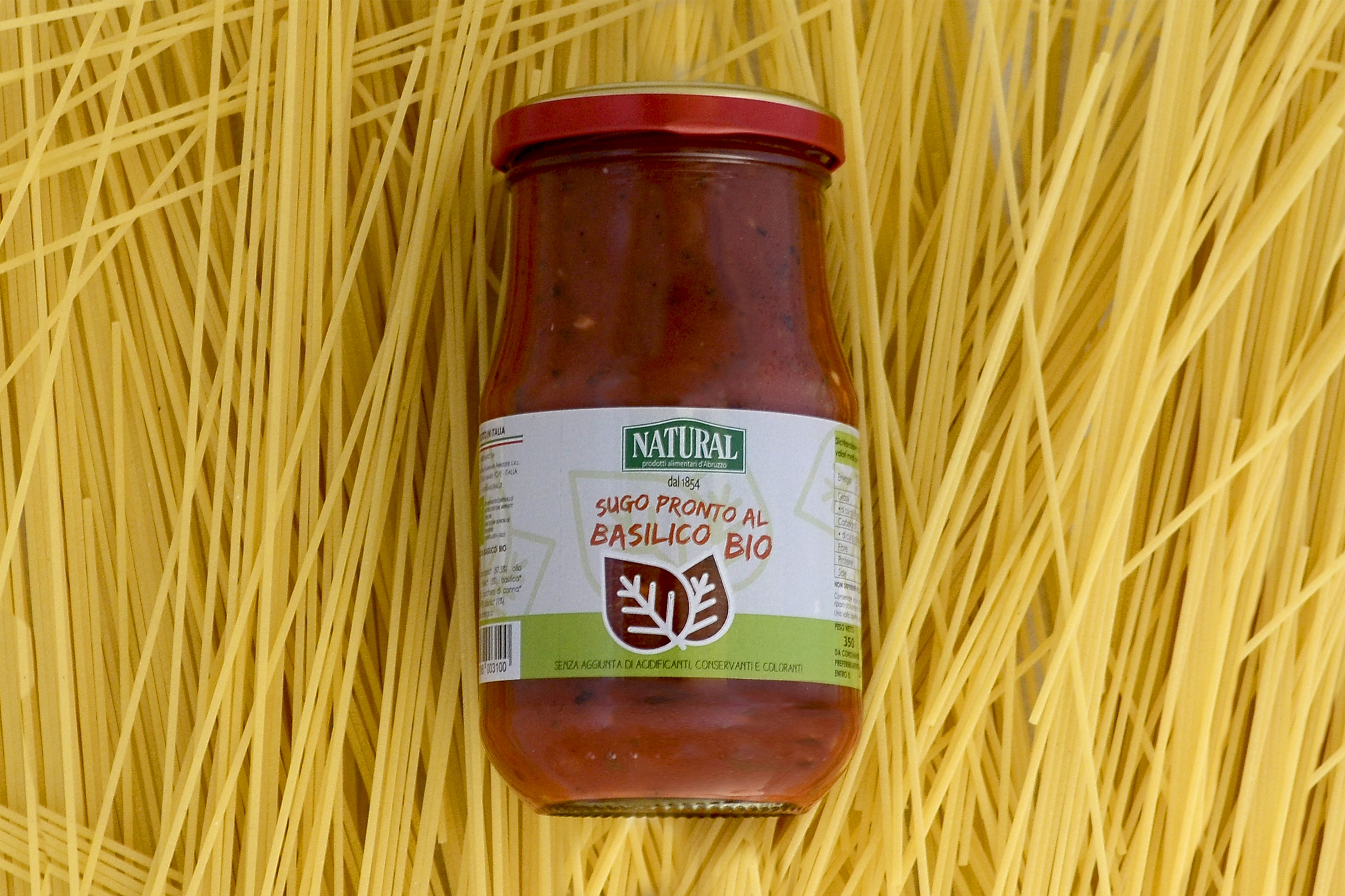 Natural Sugo Pronto Biologico Basilico